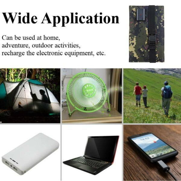 Solar Powered Foldable USB Phone Charger 6