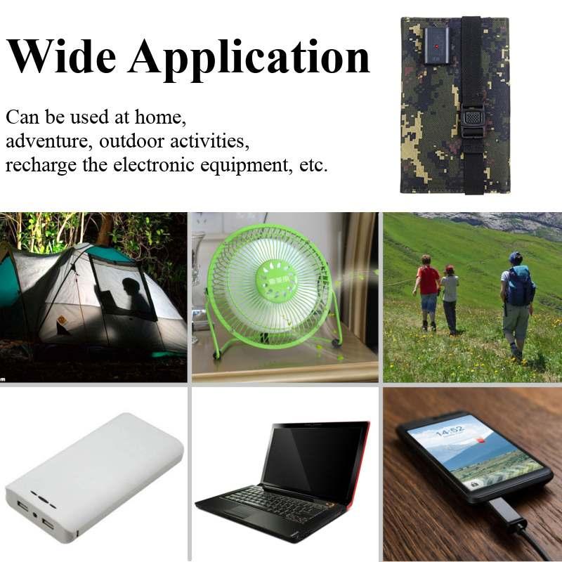 arcadia.zone Solar Powered Foldable USB Phone Charger