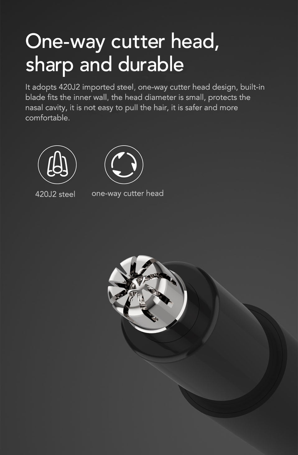 arcadia.zone Mini Electric Nose Hair Trimmer