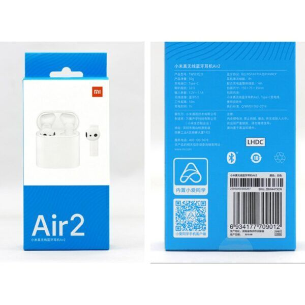 Xiaomi Airdots Pro 2 Air 2 TWS Bluetooth Headset 2 Mi True Wireless Earphone 2 Smart Voice Control LHDC Tap Control Dual MIC ENC 5