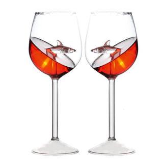 Crystal Shark Wine Glass 4