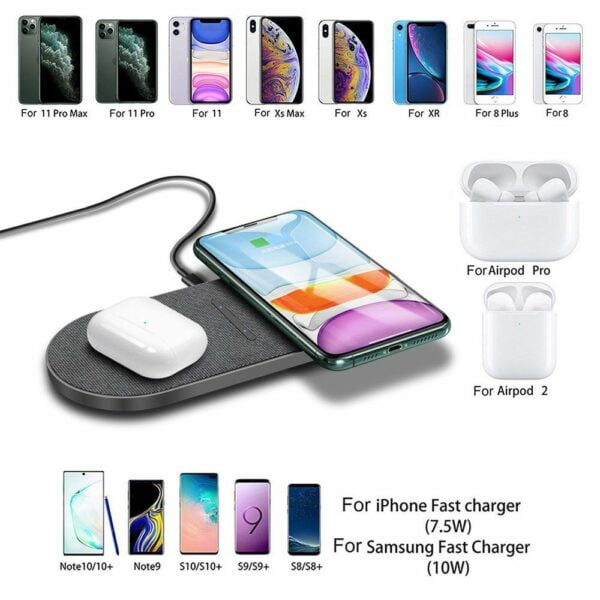 20W Dual Qi Wireless Charger 3