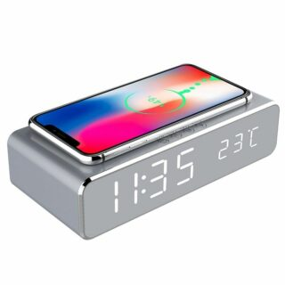 LED Alarm Clock Qi Wireless Charger 3