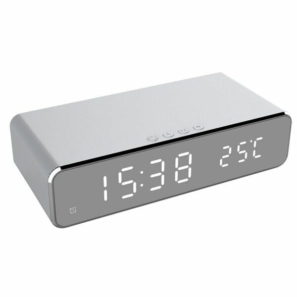 LED Alarm Clock Qi Wireless Charger 5