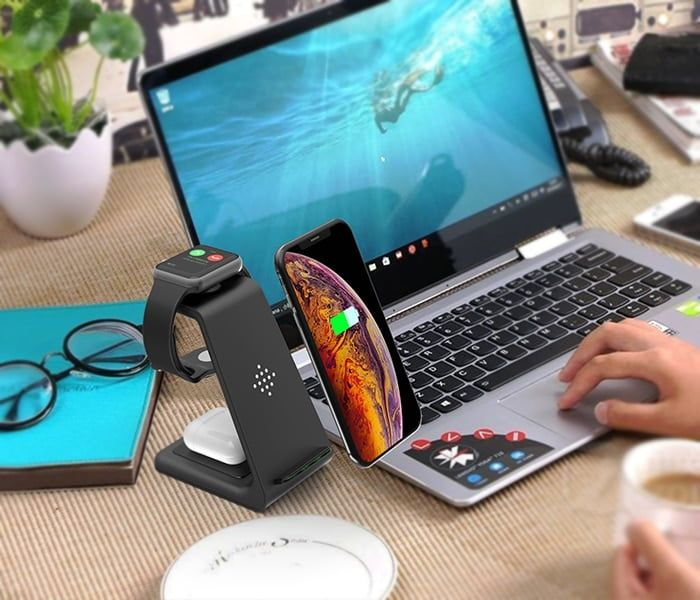 arcadia.zone 3 in 1 Wireless Charger Station