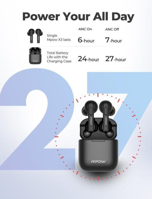 X3 True Wireless Active Noise Cancelling Earphones 2