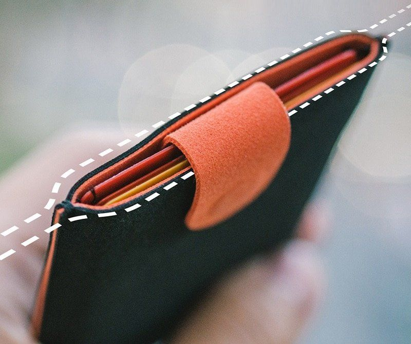 arcadia.zone Leather Card Holder Wallet