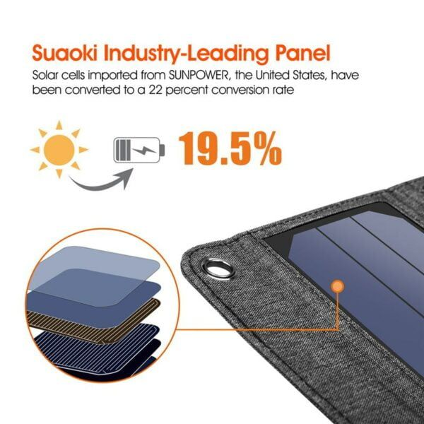 Solar Powered Foldable USB Phone Charger 3