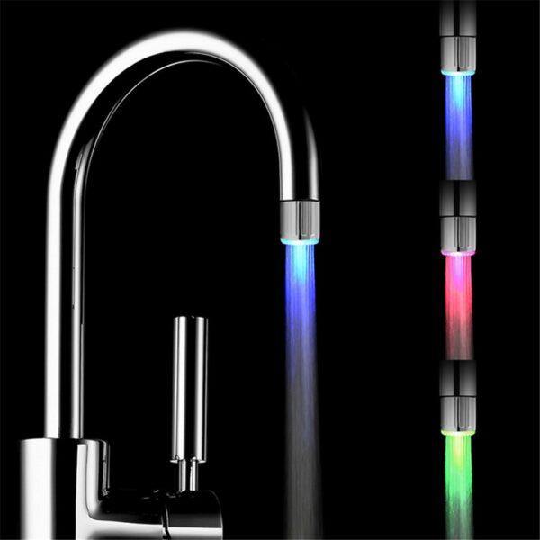 LED Colorful Glow Faucet Light 1