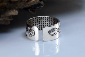 Sterling Silver Lotus Ring with Heart Sutra 10