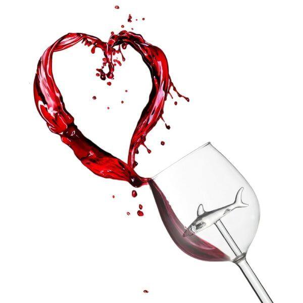 Crystal Shark Wine Glass 3