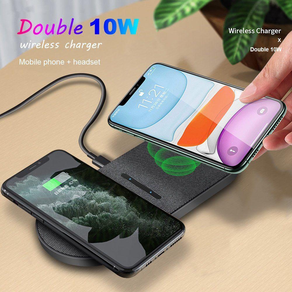 arcadia.zone 20W Dual Qi Wireless Charger