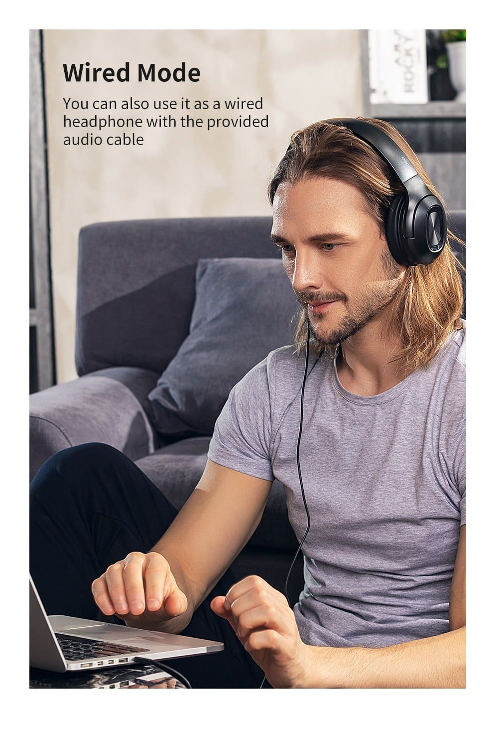 arcadia.zone HF002 Dual Drivers Over Ear Noise Cancelling Wireless Headphones