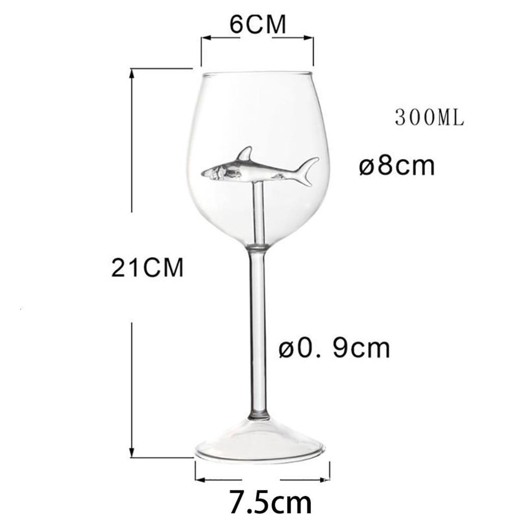 arcadia.zone Crystal Shark Wine Glass