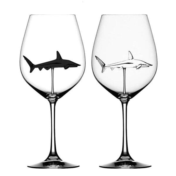 Crystal Shark Wine Glass 15