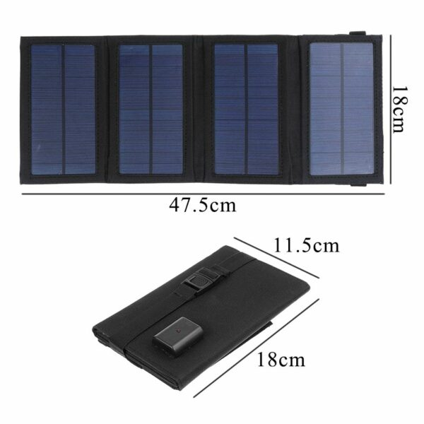 Solar Powered Foldable USB Phone Charger 2