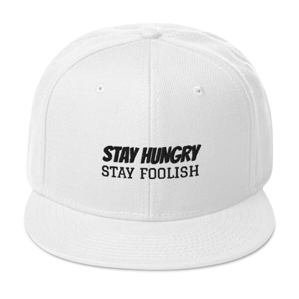 "arcadia.zone Snapback Hat ""Stay Hungry. Stay Foolish."""